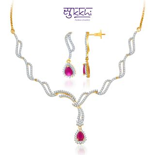 Sukkhi Gold and Rodium plated Necklace at Rs.2699