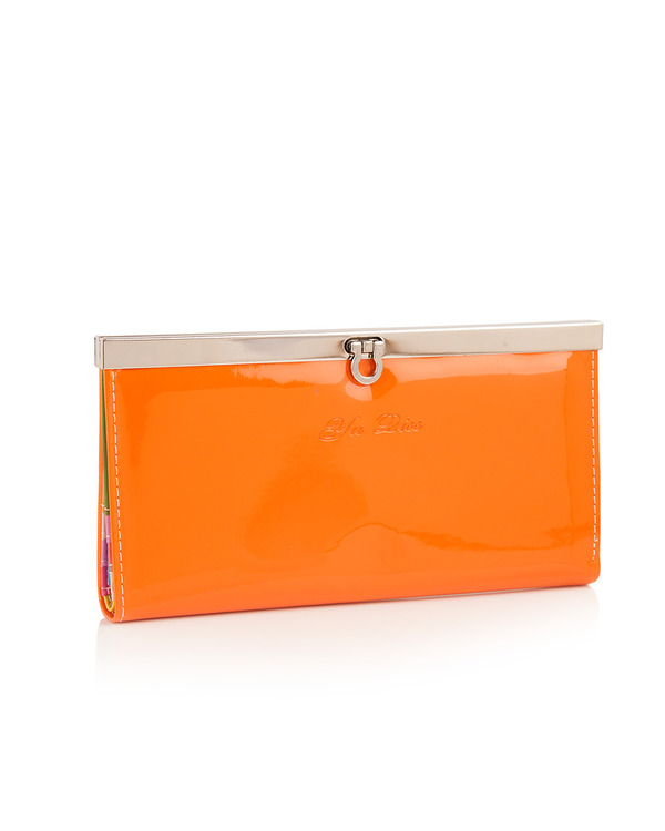 Orange PU Leather Wallet at Rs.349