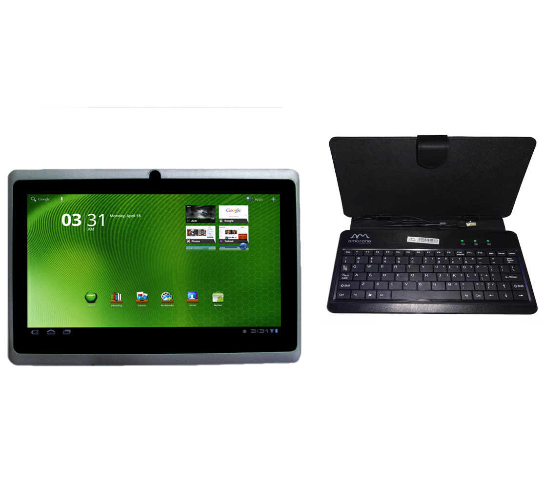 Ambrane slim tablet with Keyboard at Rs.3699