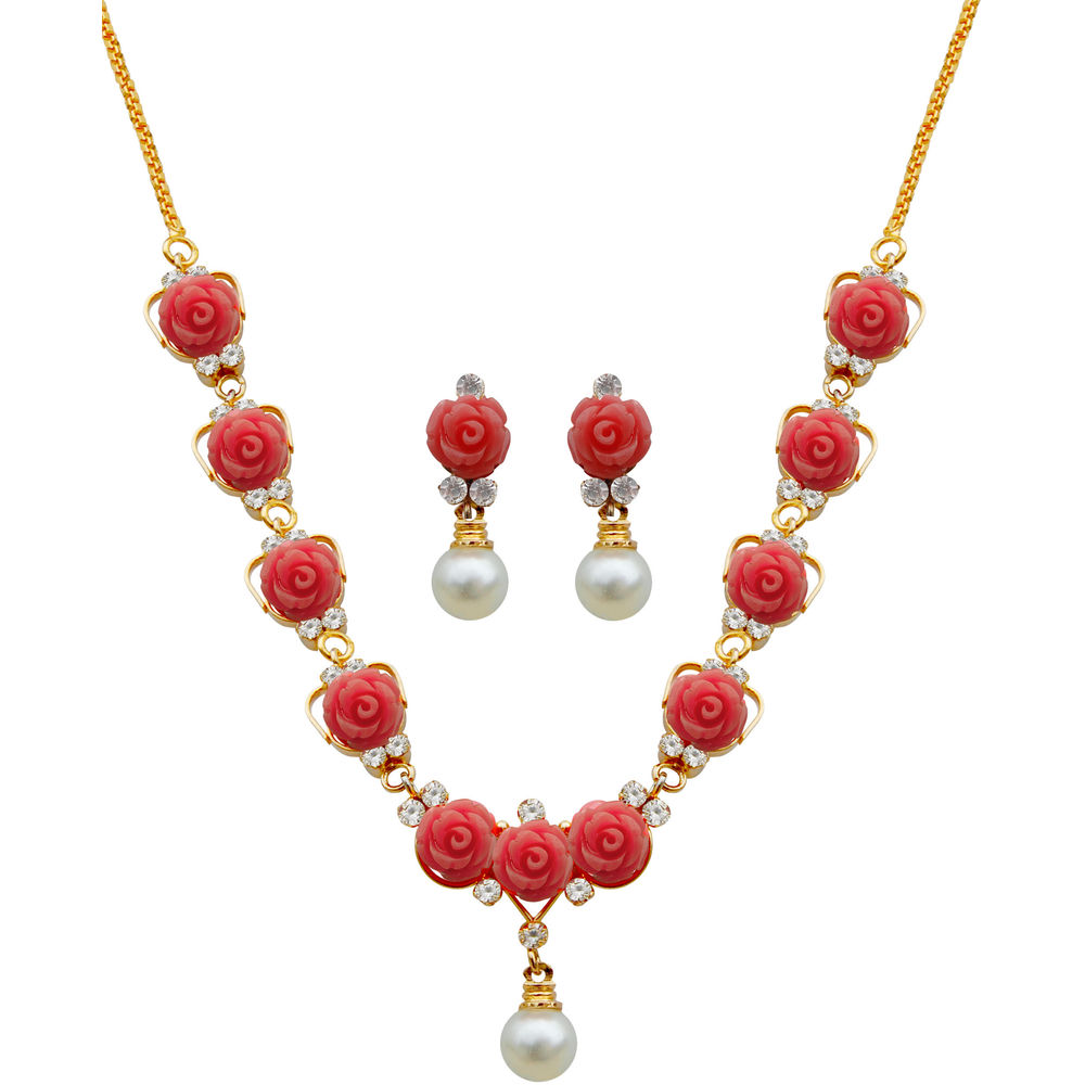 Pearls Synthetic Coral Necklace at Rs.559