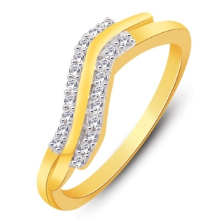 Diamonds double line Ring at Rs.1999