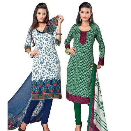 Set of 2 crepe dress material at Rs.799