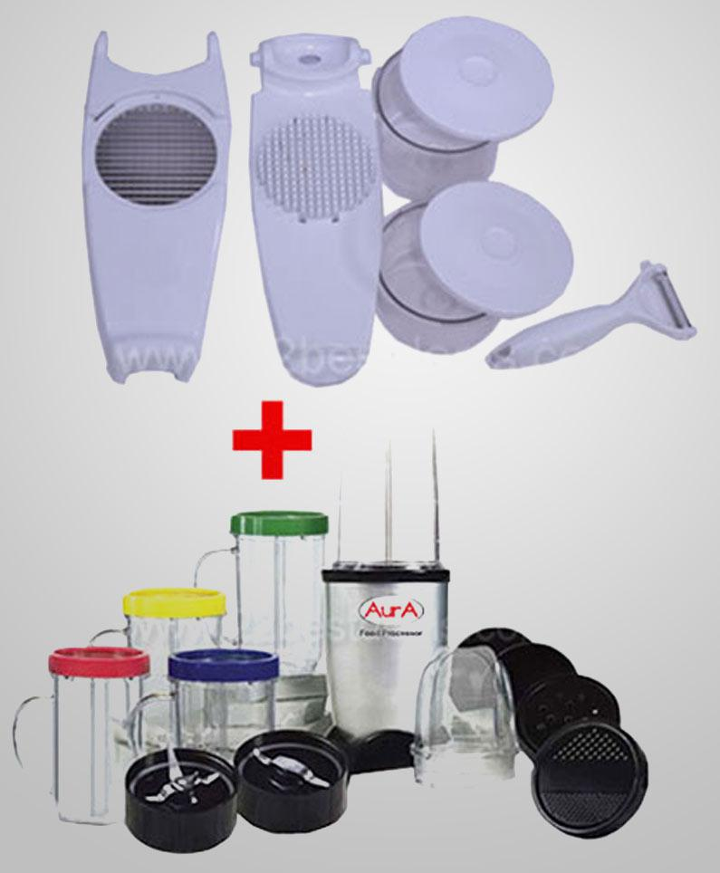 Aura Food Processor + Slice N Dice Combo at Rs.2299