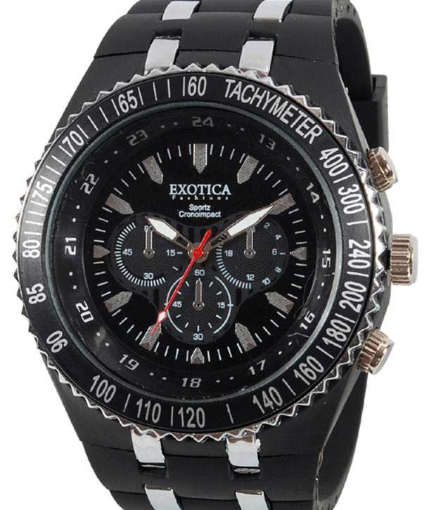 Exotica Sparky Black Dial Watch at Rs.599