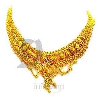 Classic Gold Plated Necklace at Rs.225
