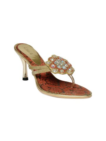 Catwalk Golden Heels at Rs.699