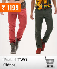 Pack of 2 Chino trouser at Rs.1199