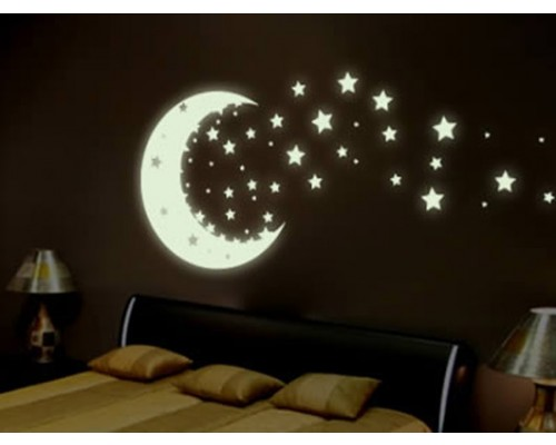 Glow In the Dark Night Time Wall Stickers only at Rs.125