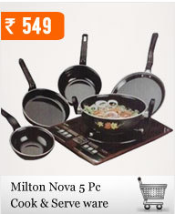 Set of 5pcs Milton Nova Cookware at Rs.549