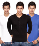 Pack Of 3 Henley T Shirts at Rs.799