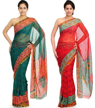 Pack of 2pcs Kangana Saree at Rs.599
