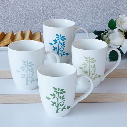 Set of 4 pcs Alfresco Tea mugs at Rs.675