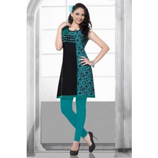 Goodiebag Turquoise & Black kurti at Rs.550