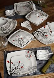 Truhome 32pcs Melamine Dinner Set at Rs.2249