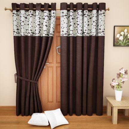 Homestory Eyelet Printed Curtain at Rs.599