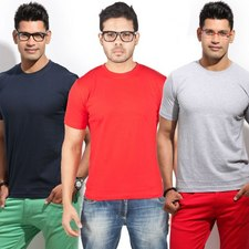 Pack of 3Pcs T-Shirts at Rs.399