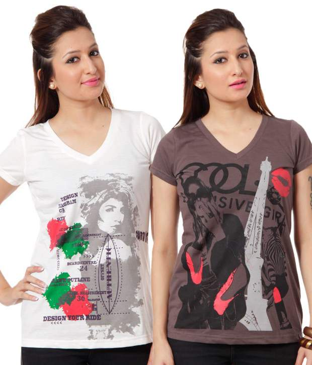 Pack of 2pcs Cotton Tees at Rs.500