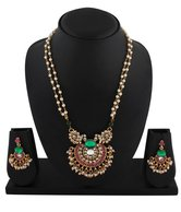 Kundan Pendant Necklace Set at Rs.1199
