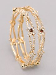 Women Gold Plated Bangles at Rs.404