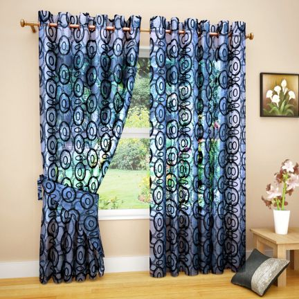 Set of 2 Pcs Eyelet Sheer Curtain at Rs.396