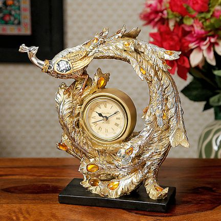 Accents Peacock Table Clock at Rs.1599