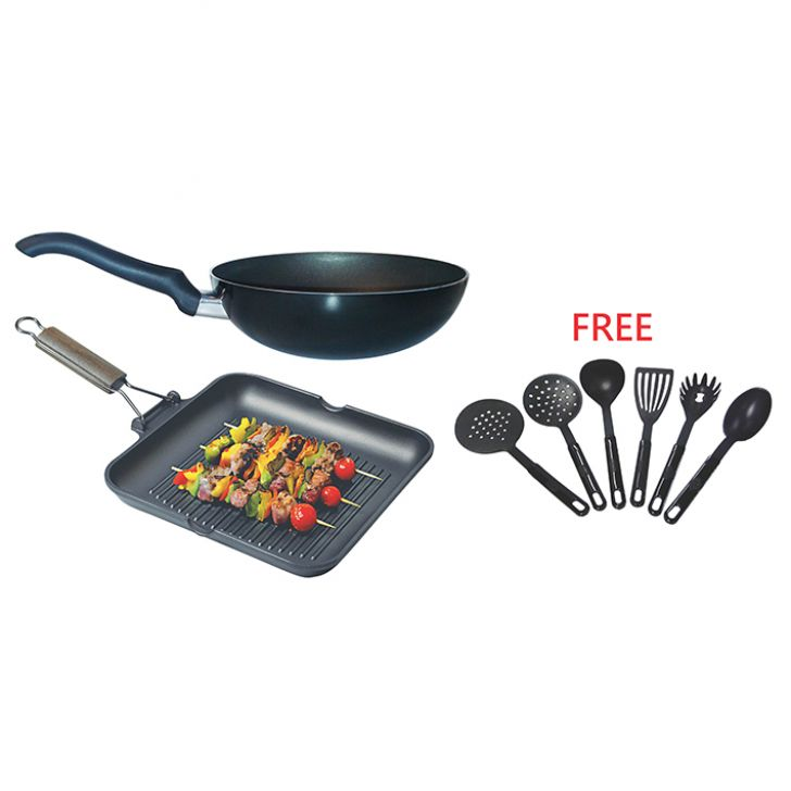 Set of 2 pcs Non Stick Grill Pan at Rs.2690
