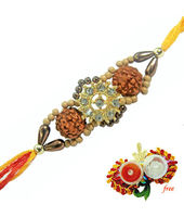 Floral Rudraksh Rakhi at Rs.130
