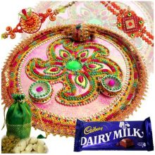 Rakhi Thali With Chocolates & Dry Fruits at Rs.979