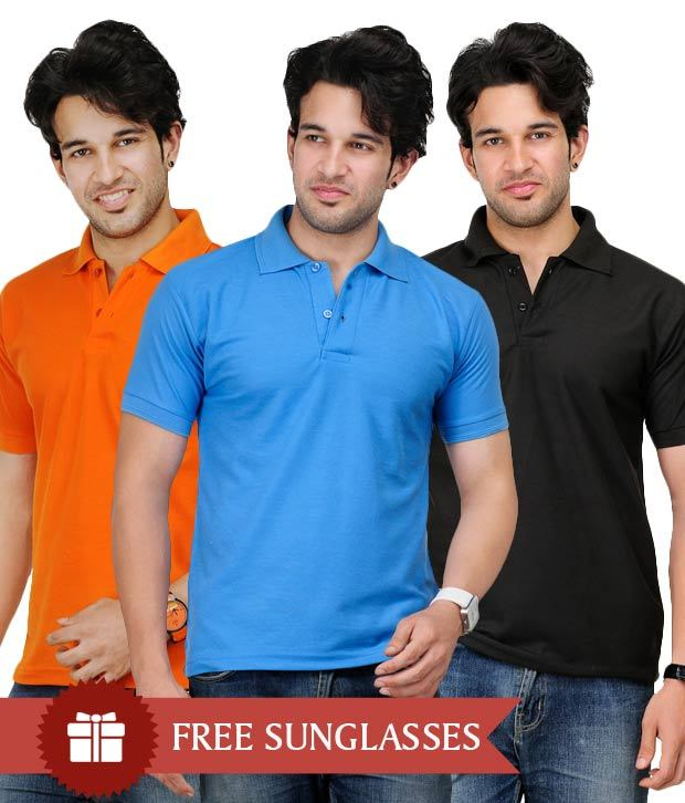 Pack of 3 pcs Polo T-Shirts at Rs.599