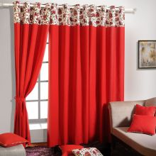 Swayam Solid Eyelet Curtain at Rs.764
