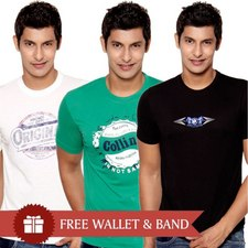 Pack of 3 pcs T-Shirts at Rs.399
