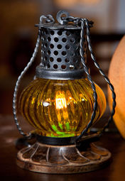 Truhome Hand Crafted Glass & Metal Lantern at Rs.647