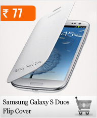 Samsung Galaxy S Duos Flip Cover at Rs.75