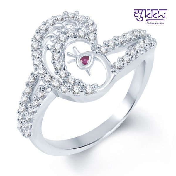 Sukkhi Rodium Plated Ring at Rs.379