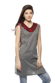 Lavennder Printed Kurti at Rs.399