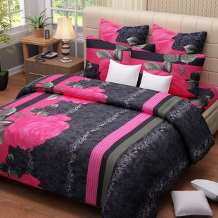 Salona Double Bed Sheet & Pillow Covers at Rs.850