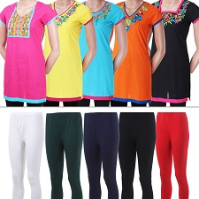 Set of 5 Kurti & leggings at Rs.2299