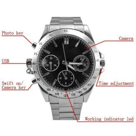 4GB Wrist Watch & Spy Hidden Camera at Rs.1275