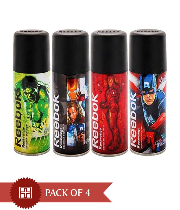 Pack of 4 pcs Reebook Deodorants at Rs.485