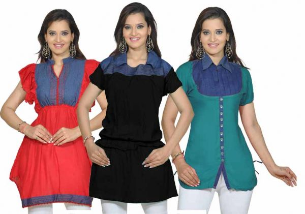 Combo of 3 pcs Kriaa Kurti at Rs.849