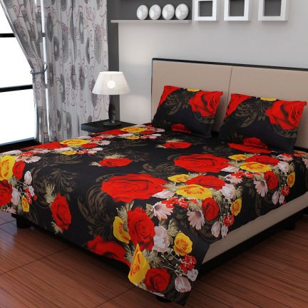 Valtellina Double Bed Sheet & 2 Pillow Covers at Rs.999