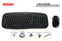 Amkette Wireless Keyboard & Mouse at Rs.1299