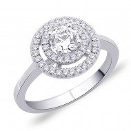 Peora CZ Sterling Ring at Rs.2299