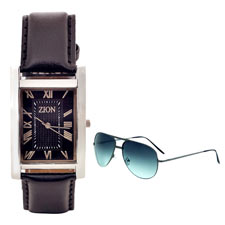 Zion Wrist Watch & Sunglass at Rs.568