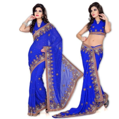 Jacquard Chiffon Royal Saree at Rs.5988