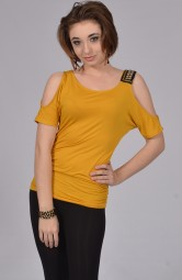 Mustard Cold Shoulder Top at Rs.1100