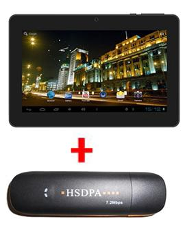 Apad with Dual Camera  Tablet & 3G Dongle at Rs.5699