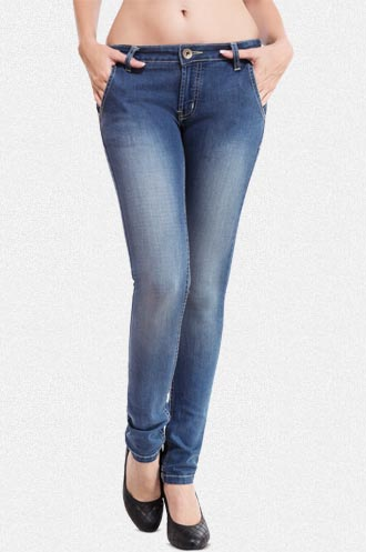 Blue Waist Skinny Denims Jeans at Rs.899