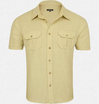 Khaki Linen Shirt at Rs.629