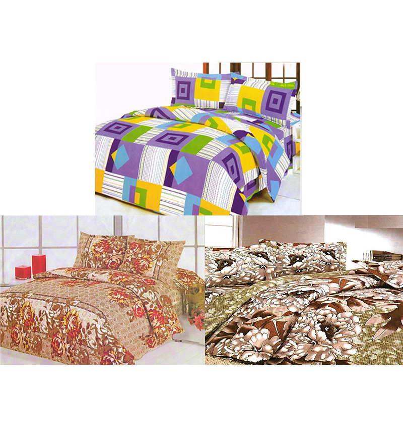 Sai Arpan 3 Double Bedsheet Set at Rs.799